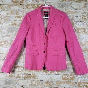 J. Crew Schoolboy hot pink blazer size 4